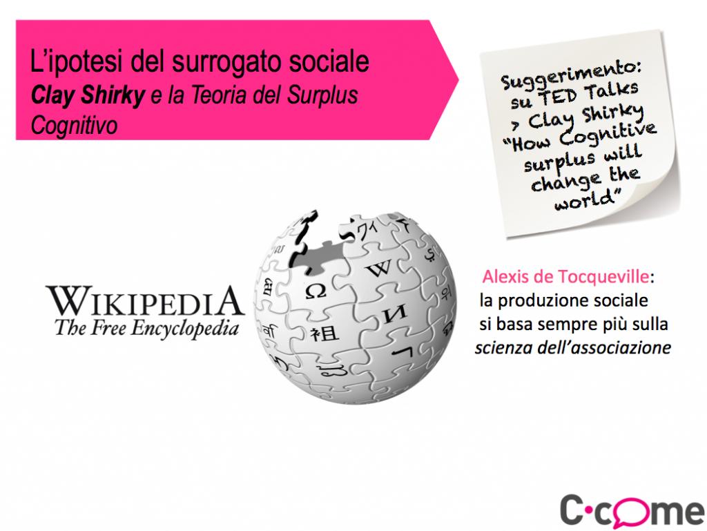 L'ipotesi del surrogato sociale: Clay Shirky e la Teoria del Surplus Cognitivo
