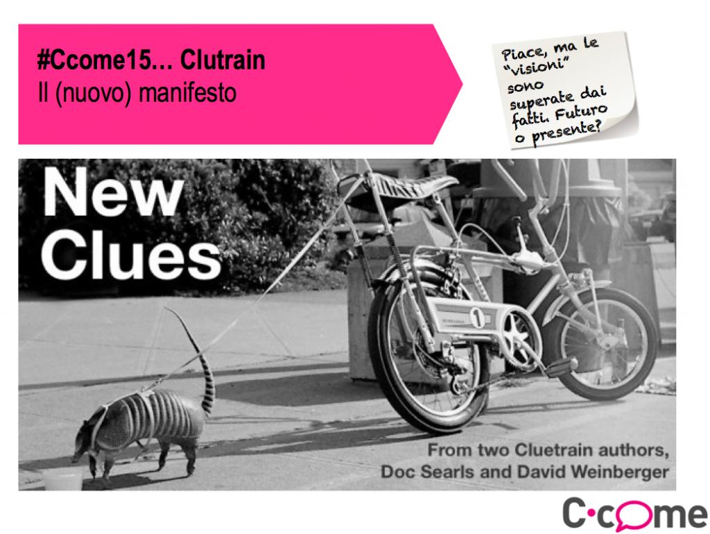 Il nuovo Clutrain Manifesto della comunicazione e della pubblicità